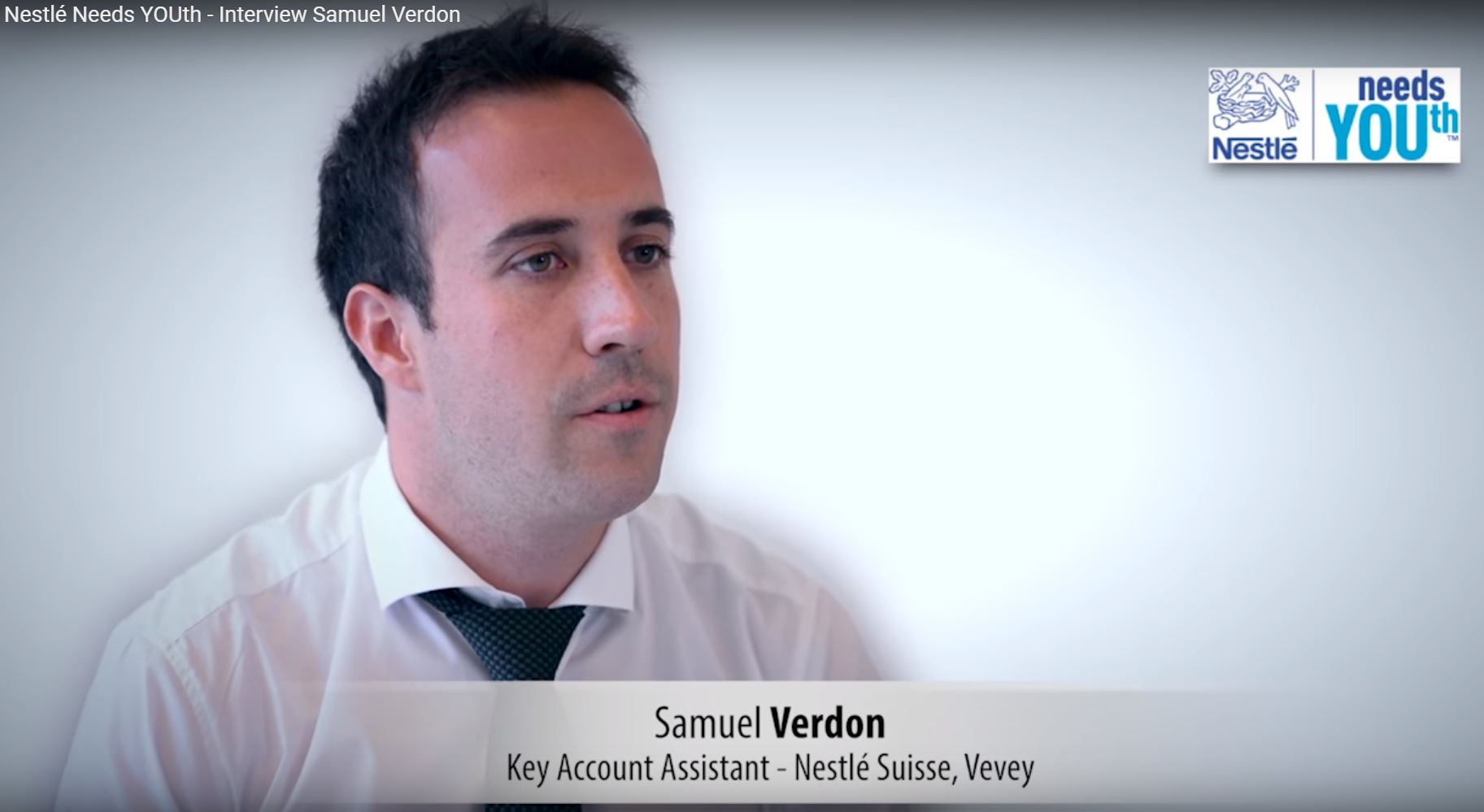 Nestlé Needs YOUth - Interview Samuel Verdon