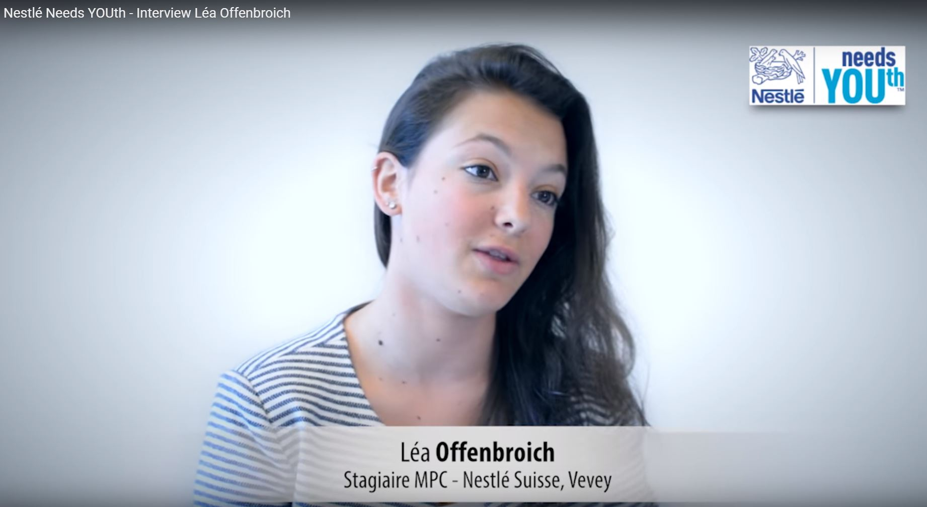 Nestlé Needs YOUth - Interview Léa Offenbroich